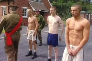 More from Bad Lads Army - young thugs are beaten into shape in the parade ground. The cocky lads are stripped to reveal their muscled bodies and soon reduced to gibbering wrecks!